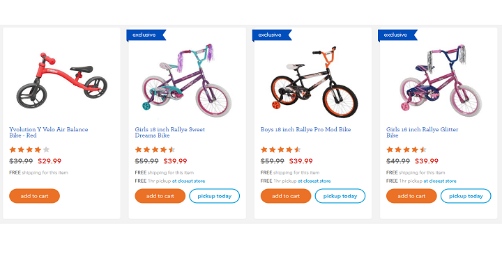 3cea97222b1 They have select bikes for the family for 40% off! And they're offering  FREE shipping as well. It looks like kids ...