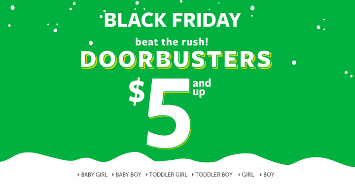 Carter\u0027s has their Black Friday Doorbusters LIVE right now! If you\u0027re get matching kids jammies this is a great time to shop as they\u0027re only $5.00!  sc 1 st  Freebies2Deals & Carter\u0027s Black Friday Doorbuster Deals are LIVE! $5 Pajamas + FREE ...