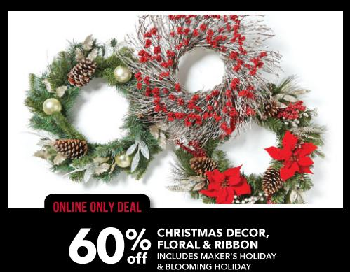 ill admit my favorite part of this sale is all the holiday decor you can save up to 60 on all christmas decor perfect time to grab new items to - Joann Fabrics Christmas Decorations