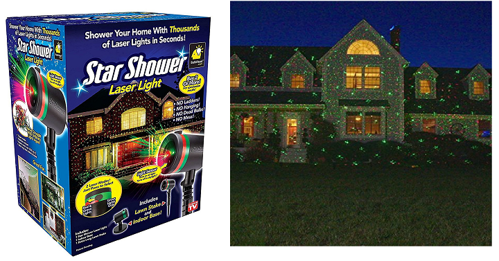 hurry over to amazon and pick up the star shower as seen on tv static laser lights star projector for only 1498 today these laser light projectors are