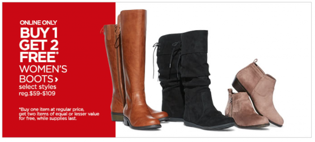 f37cbeb76124 JCPenney has select styles of women s boots on sale for Buy 1 Get 2 FREE!  Shop booties