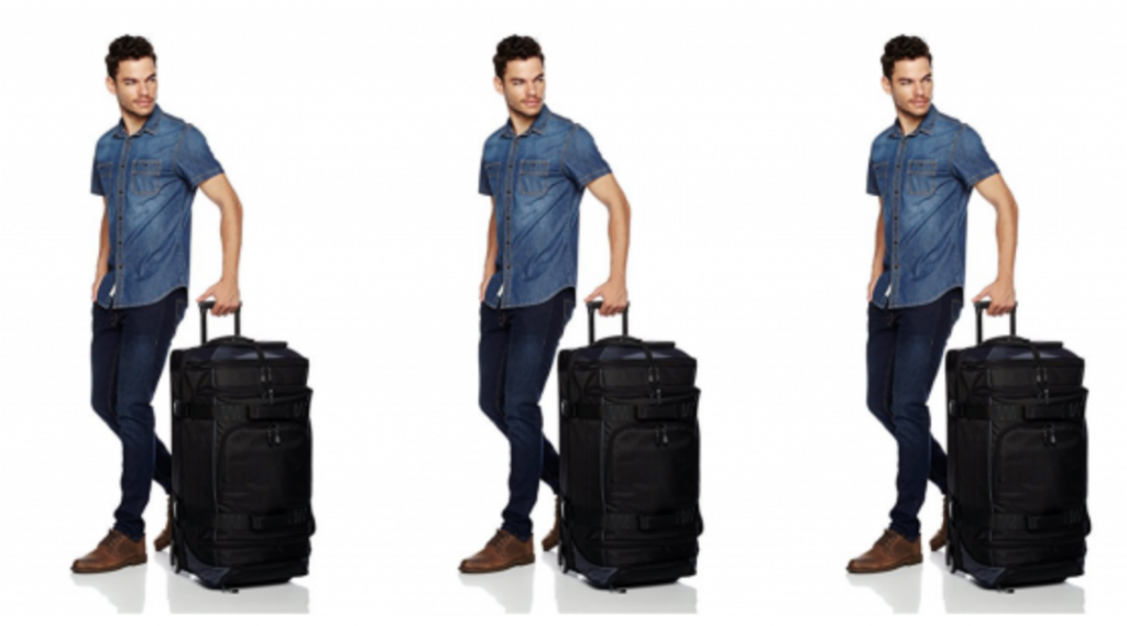 78f5b810165d If you travel a lot and hate checking bags here is your solution! Grab the  AmazonBasics 30″ Ripstop Wheeled Duffel for  61.97! (regularly  79.99) Easy  to ...