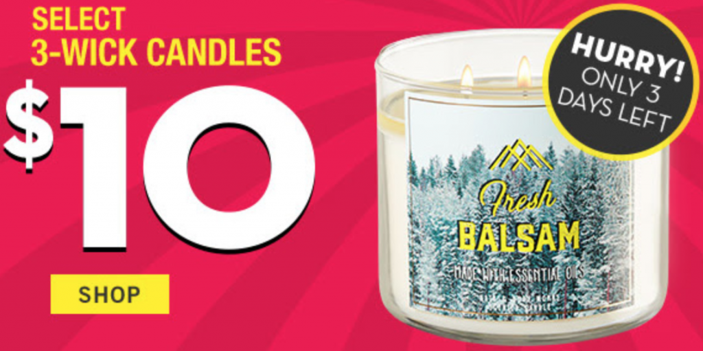 bath body works semi annual sale 10 3 wick candles hand soaps wallflower. Black Bedroom Furniture Sets. Home Design Ideas