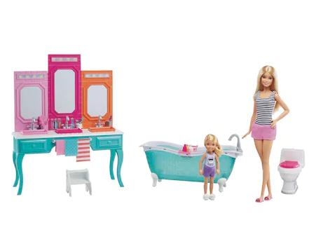 Kohl S Cardholders Barbie Amp Chelsea Bathroom Playset
