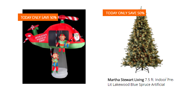 today only december 18th home depot takes 50 off christmas trees and holiday decor plus most items will qualify for free delivery too