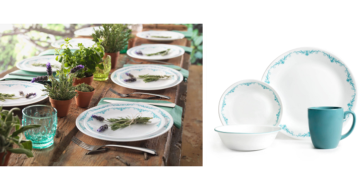 This beautiful Corelle Livingware 16 Piece Dinnerware Set (Garden Lace) is only $24.99! It includes 4 settings and make with break and scratch resistant ...  sc 1 st  Freebies2Deals & Corelle Livingware 16 Piece Dinnerware Set (Garden Lace) Only $24.99 ...