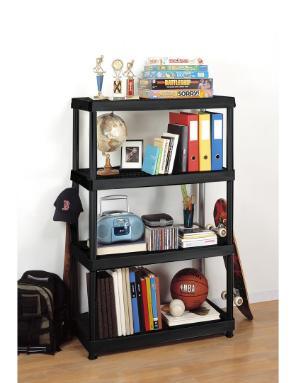 HDX 4-Shelf Plastic Ventilated Storage Shelving Unit u2013 Only $19.98!  sc 1 st  Freebies2Deals & HDX 4-Shelf Plastic Ventilated Storage Shelving Unit - Only $19.98 ...