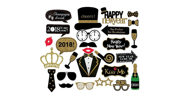 Funny 2018 Happy New Years Photo Booth Props - Just $14.96 ...