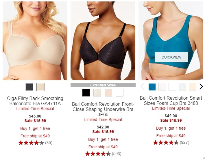 af2a496e325b4 Olga Flirty Back-Smoothing Balconette Bra · Bali Comfort Revolution Front-Close  Shaping Underwire ...