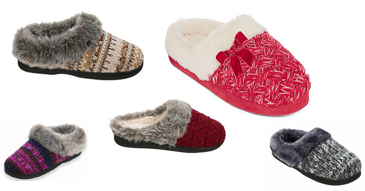 Target Black Friday 2017 Hours >> JCPenney: Women's Slippers Only $7.49 Shipped! - Freebies2Deals