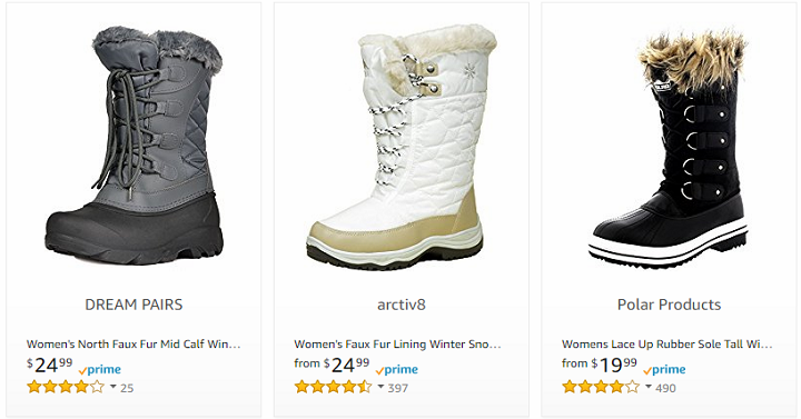 2dfb233e461eb Women's Snow Boots Starting at $19.99 on Amazon! - Freebies2Deals