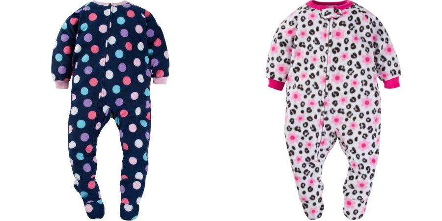 71729ab587 Head over to WalMart and pick up some awesome clearance deals on baby  clothes! The Gerber baby toddler girls  microfleece footed blanket sleepers  are marked ...