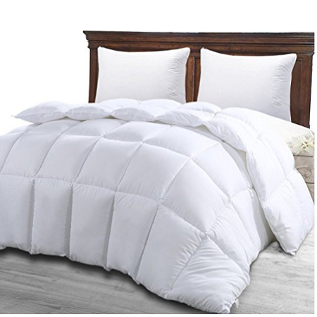 Queen Box Stitched Down Comforter Duvet In White Is Just