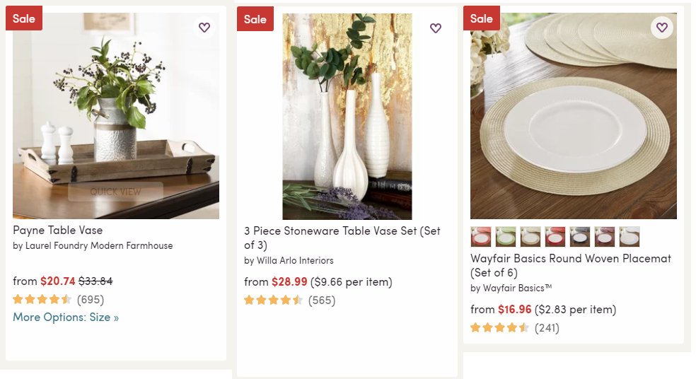 Wayfair save up to 70 off home decor plus extra 10 off for Home decor 70 off