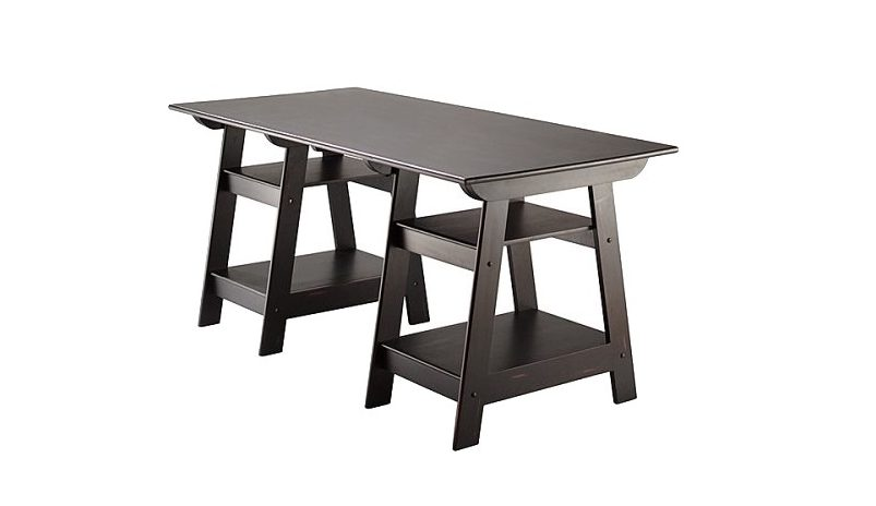 Anyone else thinking about a desk update? Target has this Madison Large  Trestle Desk in Antique Black on sale for 40% off right now! - Madison Large Trestle Desk In Antique Black—$137.88! (40% OFF
