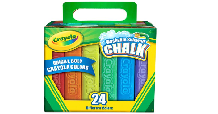 Crayola sidewalk chalk 24 pack only 249 fun easter basket gift while supplies last walmart has the crayola sidewalk chalk 24 pack for only 249 this would make a fun easter basket gift this chalk is washable which negle Choice Image