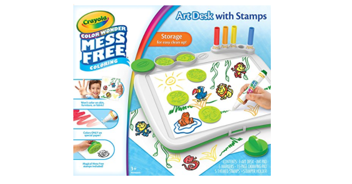 crayola color wonder mess free art desk with stamps coloring board