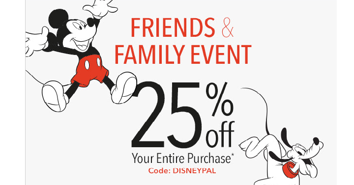 Shop disney friends family sale starts now take 25 off your shop disney is having their friends and family event that means you can take 25 off your entire purchase just use coupon code disneypal at checkout fandeluxe Gallery