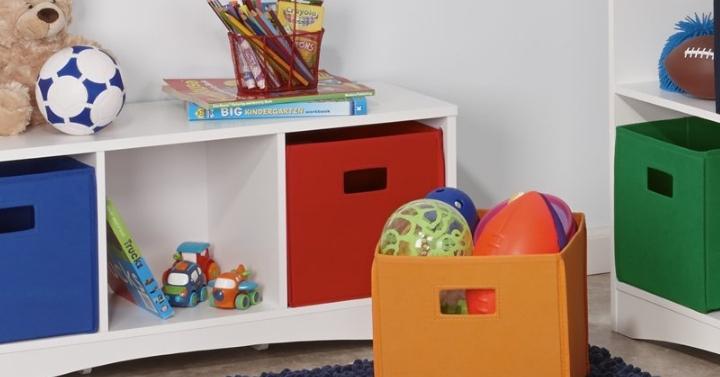 RiverRidge Kids Soft Storage Bins, 2 Piece (Red) U2013 Only $4.34! *Add On Item*