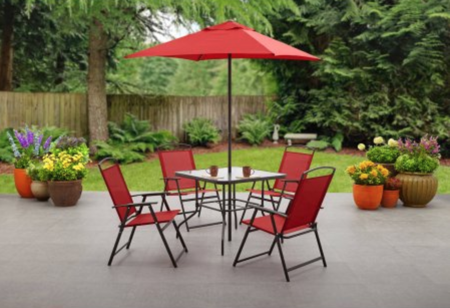 Head Over To Walmart And Grab The Mainstays Albany Lane 6 Piece Patio Set  For Just $79.00! (regularly $124.00) Create An Outdoor Dining Area You Can  Enjoy ...