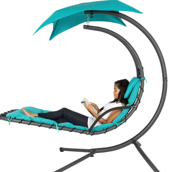 This Teal Hanging Chaise Lounge Chair Is Only 129 99 Shipped Reg 400 What S Life Without Simple Pleasures Canopied Fuses Classic