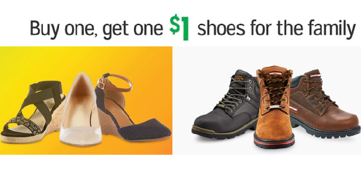 9c2016b02dac Right now at Kmart Buy 1 Pair of Shoes and get another pair of shoes for  only  1.00! The best part if you can shop for the whole ...