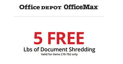 Office Depot: 5lbs Of Document Shredding FREE! - Freebies2Deals