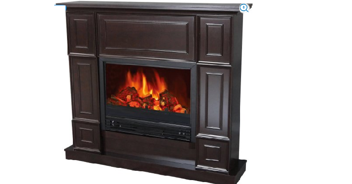 Decor Flame Electric Fireplace Space Heater With 44 Quot Wide