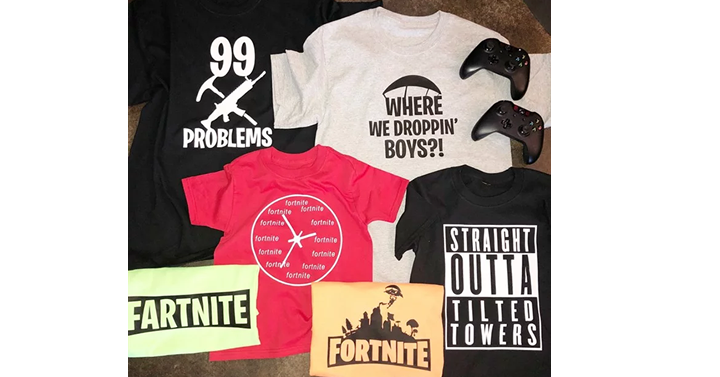 05eca8c0e HOT! Fortnite Tees Adult & Kids 15 Styles from Jane - Just $12.99 ...