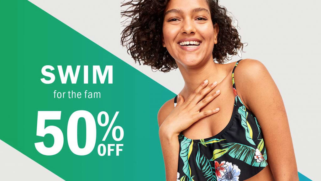 15aecdf8d3 50% Off Swim For The Whole Family Online   Today Only At Old Navy ...