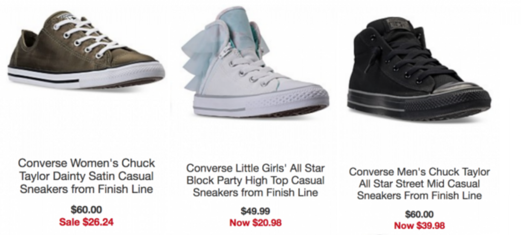 Up To 70% Off Select Converse Style For the Whole Family At Macy's!