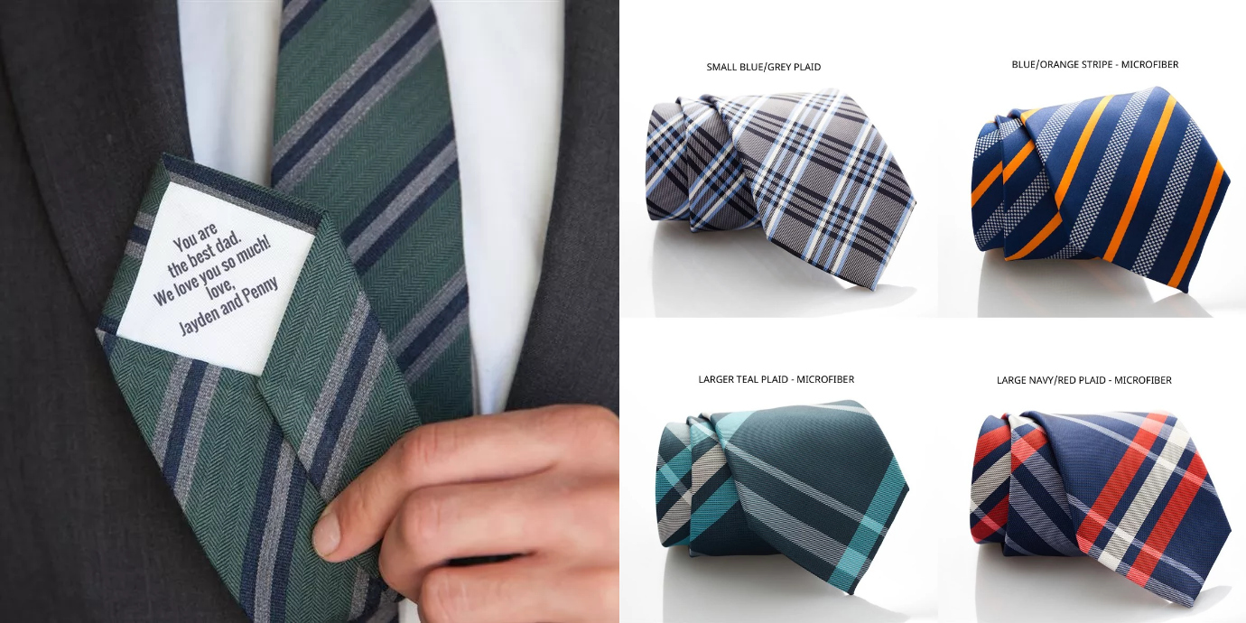 personalized men s ties only 16 99 great gift for dad