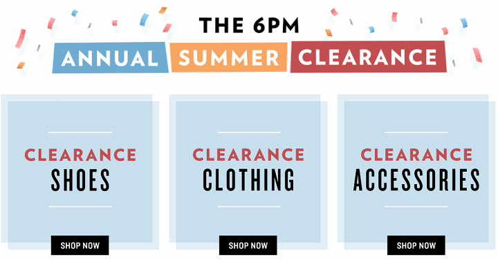 2201e860476 Right now 6pm is having their Annual Summer Clearance where you'll find  awesome deal son shoes, clothing and accessories! I was checking out their  shoes for ...