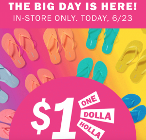 67c1763cbcd7 Head in-store to snag  1.00 Flip Flips for the whole family at Old Navy!  All solid color flip flops are included. Doors are already open