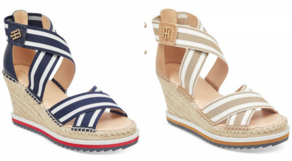 1d80be36ef1 Macy s is offering these Tommy Hilfiger Espadrille Platform Wedge Sandals  in navy or tan for just  29.93! (regularly  60.00) This is a last act deal