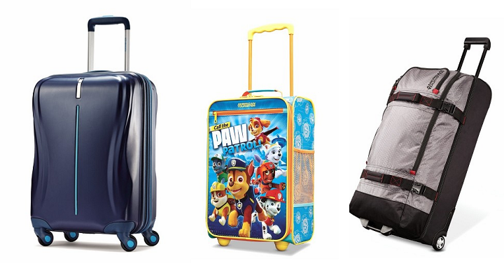0ca366b9ed Now is a great time to snag some luggage for any trips you might have this  year! Target has their American Tourister Luggage & Accessories on sale for  a ...