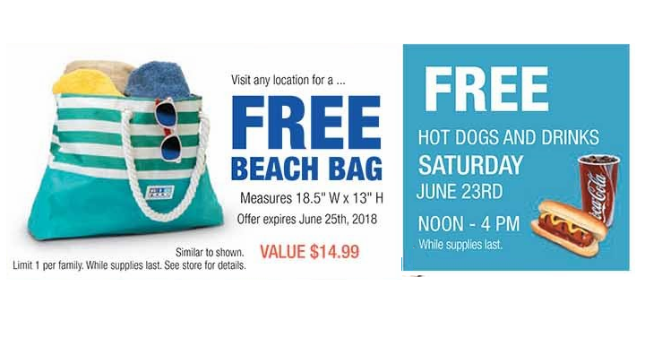 RC Willey Is Offering A FREE Beach Bag At Any Location While Supplies Last And Coming Up On June 23rd Theyre Serving Free Hot Dogs