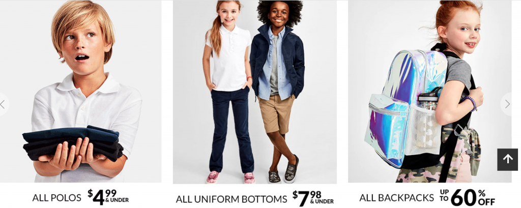 Back To School Savings At The Childrens Place 438 Uniform Polos