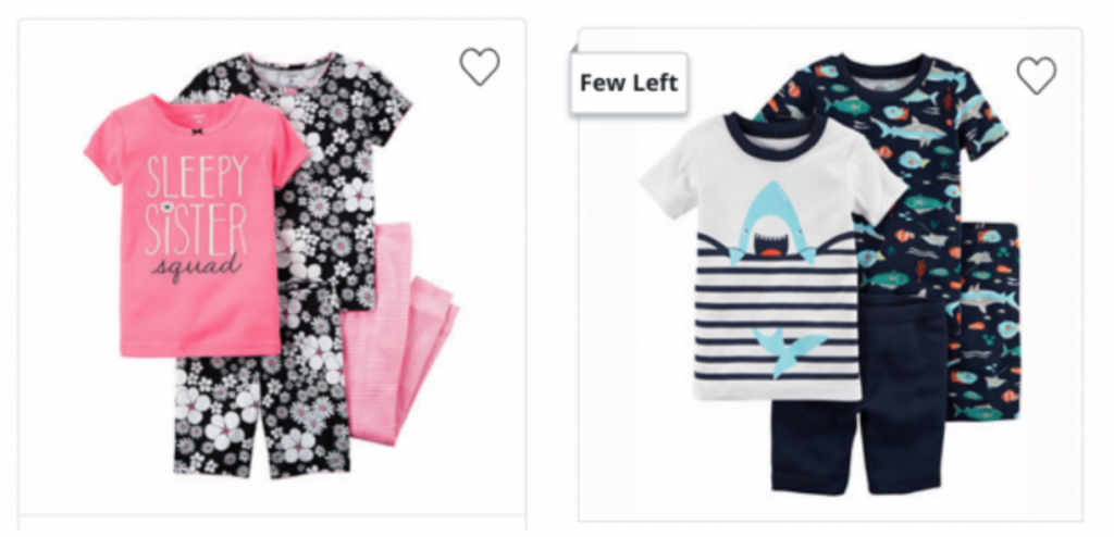 af7226bf Hurry over to JCPenney where you can shop Carters 3 or 4-Piece Pajama Sets  for as low as $5.59 when you use promo code 4TOSHOP at checkout!