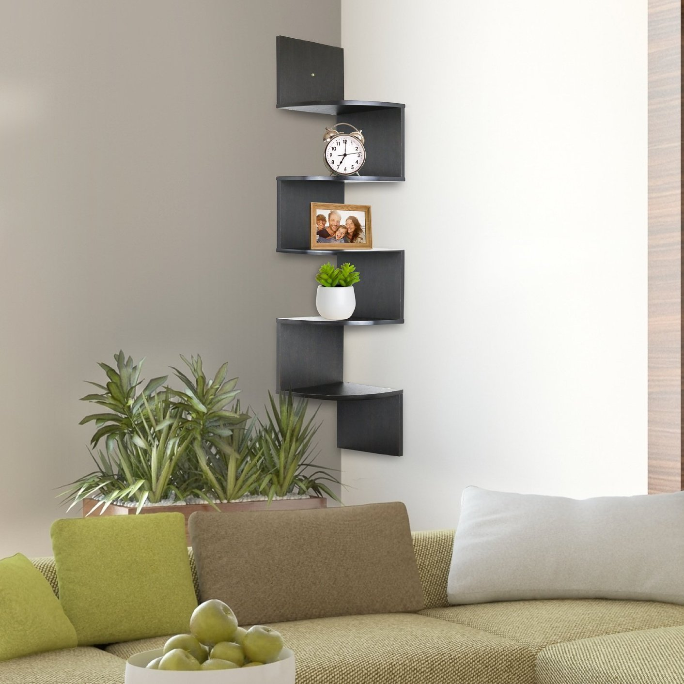 Greenco 5 Tier Wall Mount Corner Shelves Only 1889 Reg 2999