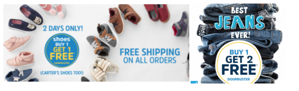 f91653378c OshKosh: Buy One Get One FREE Shoes, Buy One Get Two FREE Jeans ...