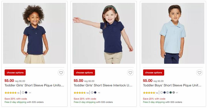Target Save Additional 20 Off School Uniforms Prices Start At