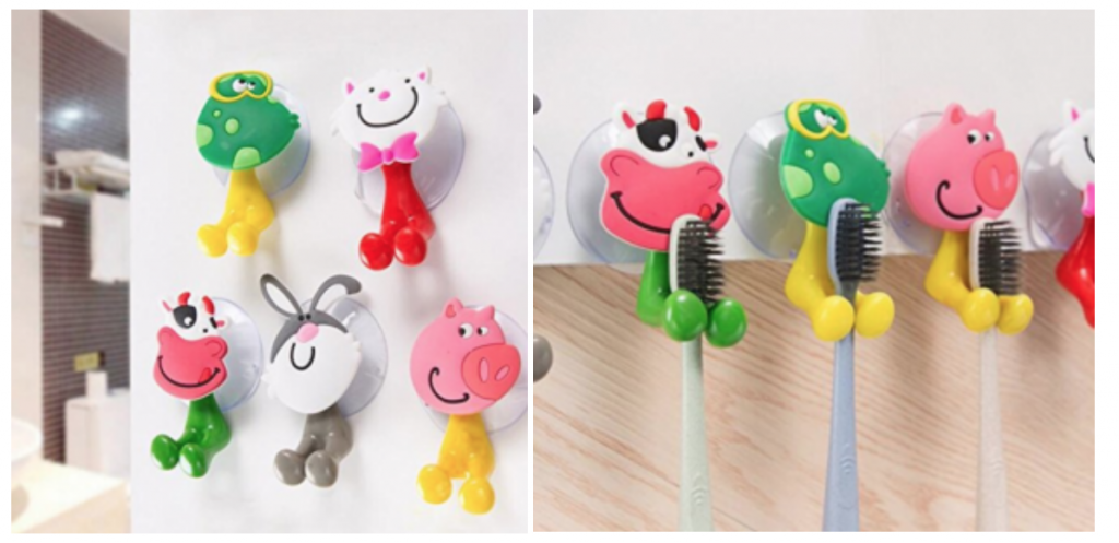 Wall Mounted Toothbrush Holders 5 Pack Just 3 50 Shipped
