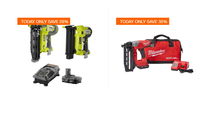 Today Only September 29th Home Depot Takes Up To 30 Off Select Nailers And Compressors Plus You Will Score Free Delivery On Your Purchase As Well