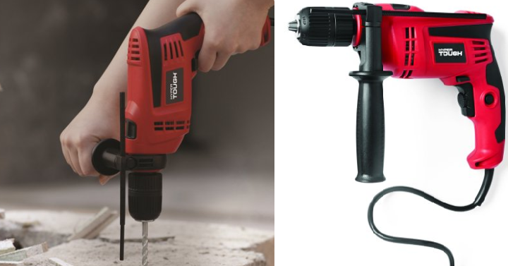 Hyper Tough 6 0-Amp 1/2-Inch Corded Hammer Drill Only $17 63