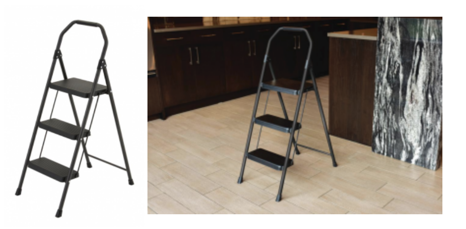 Phenomenal Gorilla Ladders 3 Step Compact Steel Step Stool 9 88 Caraccident5 Cool Chair Designs And Ideas Caraccident5Info