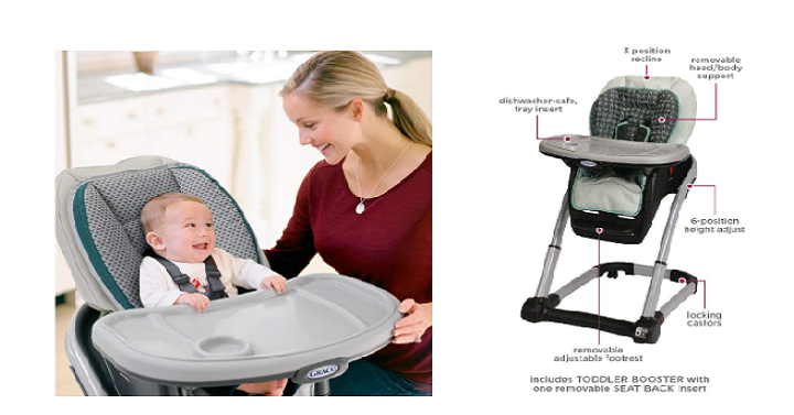 39506ffd89414 Grab this Graco 6 in 1 Convertible Highchair today for Only  113.99  Shipped! (Reg.  189.99). The Blossom 6-in-1 Highchair transforms seamlessly  from an ...