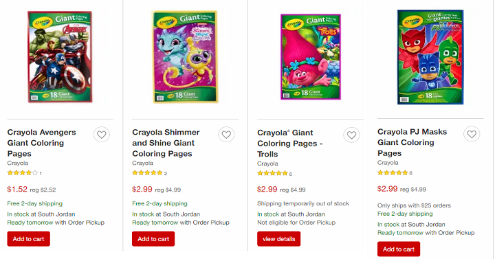 Target Crayola Giant Coloring Pages Starting At 152 Shipped
