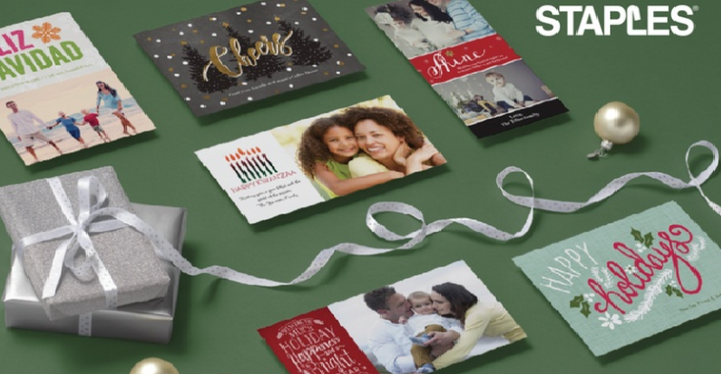Staples get custom holiday cards or invitations for 71 off i use groupon has a great deal with staples you can take 71 off custom holiday cards or invitations i grab the 100 custom holiday cards for 25 every m4hsunfo