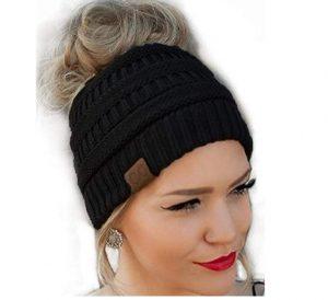 efd1aba1a8091 CC Quality Knit Messy Bun Hat Beanie just  3.99! - Freebies2Deals